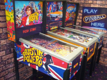 Austin Powers ~ 1/12th Scale Miniature Pinball Table Model